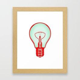 Bulbuous CHERRY MINT Framed Art Print