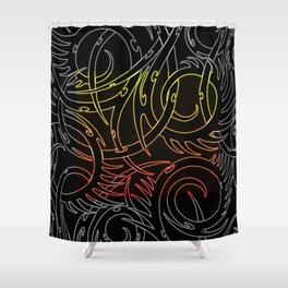 Tribal Fire Shower Curtain