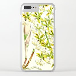A orchid plant - Vintage illustration Clear iPhone Case