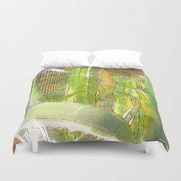 Cactus Garden Serene Duvet Cover