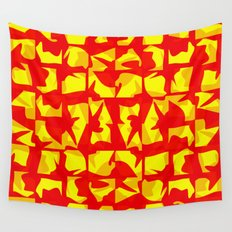 red shapes Wall Tapestry