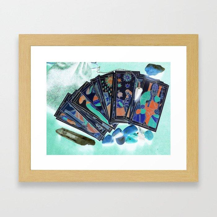 Tarot Card Mystical Gypsy Fortune Teller Fantasy Framed Art Print