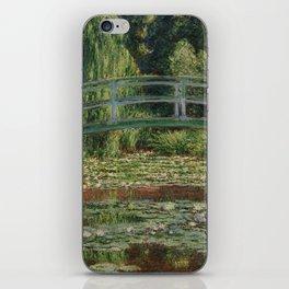 Claude Monet - The Japanese Footbridge iPhone Skin
