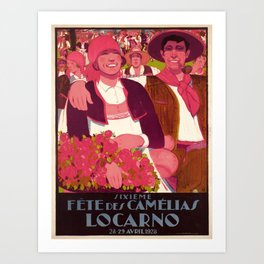 Advertisement fete des camelias locarno 28 28 Art Print