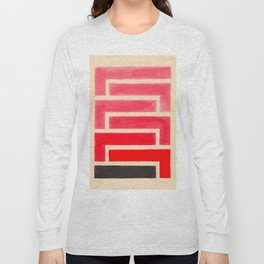 Geometric Pattern Watercolor Painting Long Sleeve T-shirt