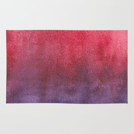 red-violet watercolor Rug