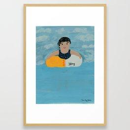 Keeping Afloat Framed Art Print