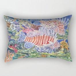 Red Lionfish Rectangular Pillow