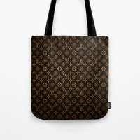 lv Tote Bags featuring LV Pattern by Veylow