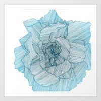 Linear Rose Art Print