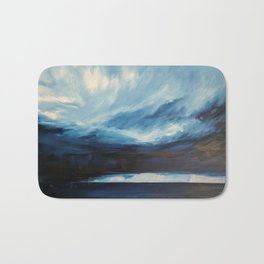Rain at Sea Bath Mat