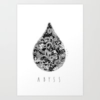abyss Art Prints featuring ABYSS by FilippoCardu