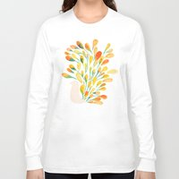 peacock Long Sleeve T-shirts featuring Watercolor Peacock by Picomodi