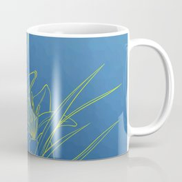 Day Lily Blue Coffee Mug