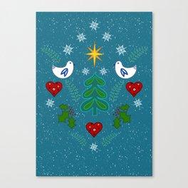 Christmas Winter Holidays art design Canvas Print