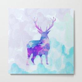 Abstract Deer II Metal Print