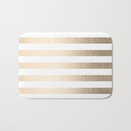 Simply Striped in White Gold Sands Bath Mat