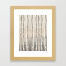Birches-Winter Framed Art Print
