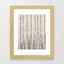Birches-Winter Framed Art Print