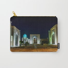 Registan square at night - Samarkand, Uzbekist Carry-All Pouch