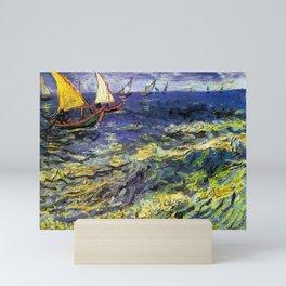 Vincent van Gogh Fishing Boats at Saintes-Maries Mini Art Print