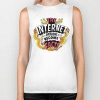 internet Biker Tanks featuring The Internet. by Chris Piascik