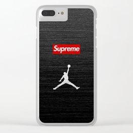 airjordan supreme Clear iPhone Case