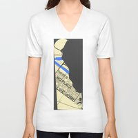 chad wys V-neck T-shirts featuring There's No Place Like Home [Chad] by Ebenezer Hedgehog