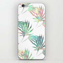 Palmetto Fronds Tropical Multicolor Pattern iPhone Skin