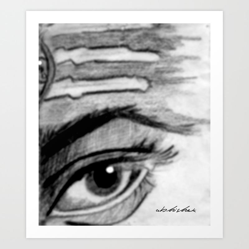 Shiva pencil sketch art print