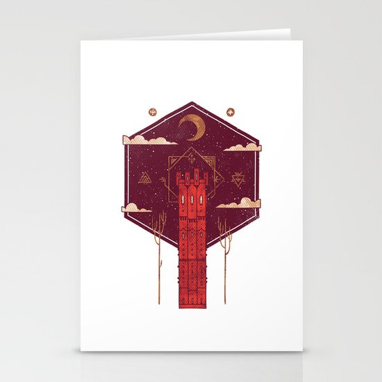 The Crimson Tower Stationery Cards