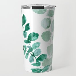 Watercolor eucalyptus leaves Travel Mug