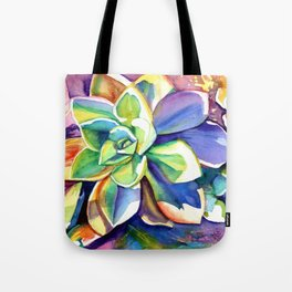 Sunny Day Succulents Tote Bag