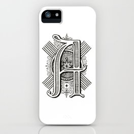 Monogram A iPhone Case