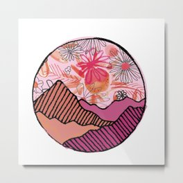 daisy mountain Metal Print