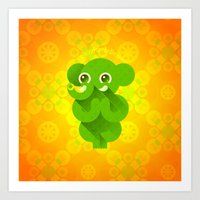 ganesha Art Prints featuring Ganesha by Plushedelica