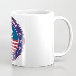Louisiana, Louisiana t-shirt, Louisiana sticker, circle, Louisiana flag, white bg Coffee Mug