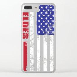 Welder US Flag v2 Clear iPhone Case