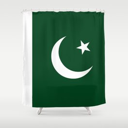 The National Flag of Pakistan - Authentic Version Shower Curtain