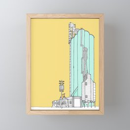 Nebraska Grain Elevator Framed Mini Art Print