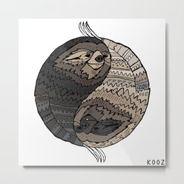 BALANCE IN SLOTH Metal Print