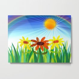 Let the Sun Shine In Metal Print