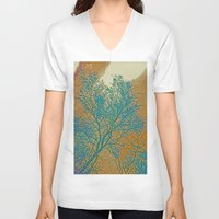 breaking V-neck T-shirts featuring Weather Breaking by Anne Millbrooke