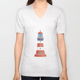 nautical lighthouse Unisex V-Neck