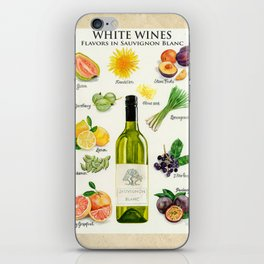 WHITE WINES - Flavors in Sauvignon Blanc iPhone Skin