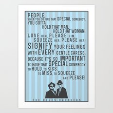 The Blues Brothers Everybody Quote Art Print
