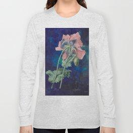 French Poppy - Vintage Botanical Illustration Collage Long Sleeve T-shirt