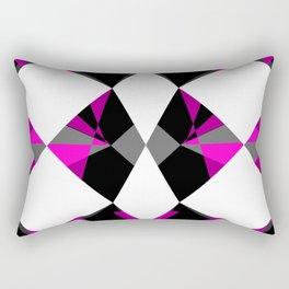 Gemstones Geometric Pink Rectangular Pillow
