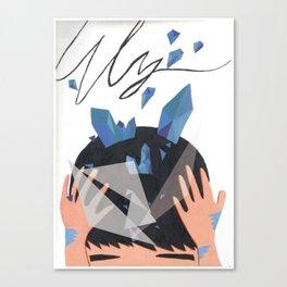 iolite blue Canvas Print