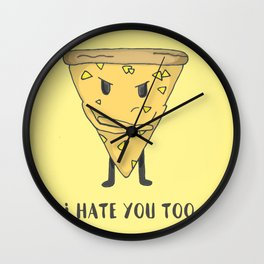 Pineapple Pizza Wall Clock